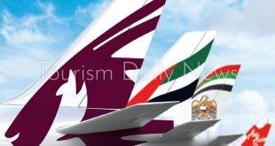 3 شركات طيران خليجية تتسبب فى صداع للغربيين وتتربع ضمن العشرة الكبار