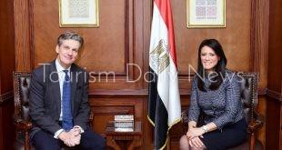 وزيرة التعاون الدولي والسفير البرياني بالقاهرة