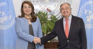 غادة والي وكيل السكرتير العام للأمم المتحدة تحلف اليمين