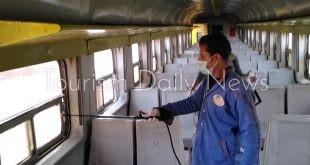 """النقل تتابع إجراءات مواجهة """"كورونا"""" في السكك الحديدية والمترو والمنافذ"""