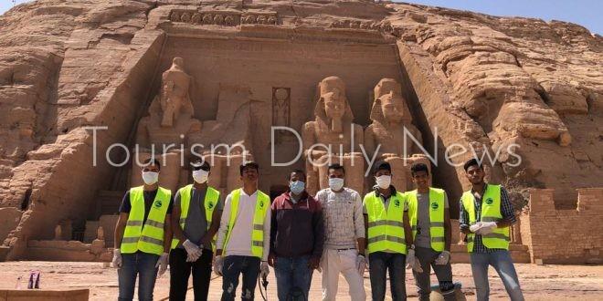 السياحة تبدأ أعمال التعقيم والتطهير للمناطق الأثرية في صعيد مصر