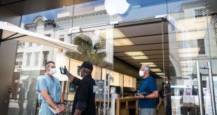 أبل تعيد فتح 100 متجر تجزئة إضافي في الولايات المتحدة الأمريكية