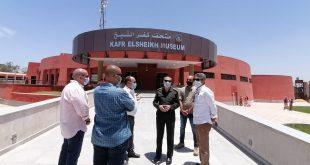 متحف كفر الشيخ يستقبل مجموعة من القطع الآثرية الضخمة من منطقة تل الفراعين