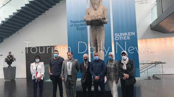 الوفد المصري يزور متحف فيرجينيا للفن لتفقد معرض المدن الغارقة