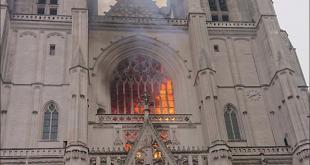 حريق كاتدرائية نانت غير متعمد وليس هناك عمل إجرامي