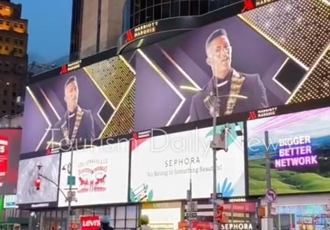 عرض أغنية الفنان محمد رمضان في ميدان تايم سكوير بنيويورك أولًا