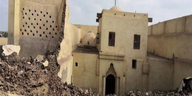 إحالة إنهيار السور الشمالي لكنيسة دير أبو فانا الآثرية للنيابة