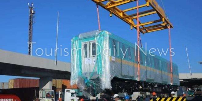 ميناء الإسكندرية يستقبل ثاني قطارات المترو المكيفة للعمل بالخط الثالث