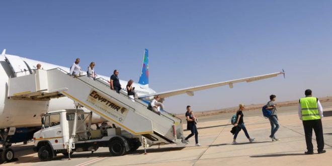 استئناف الرحلات السياحية إلى مطار طابا وأول رحلة من بولندا تصل اليوم1