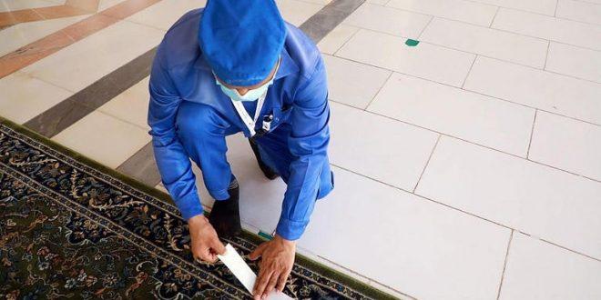 فرش المسجد النبوي بـ7000 سجادة في التوسعات والساحات
