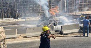 تفحم 7 سيارات ملاكى فى حريق الطريق الدائري وتحويل الحركة المرورية