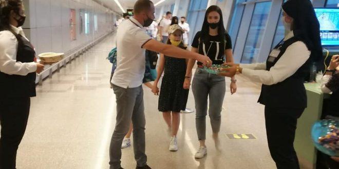 مطار الغردقة يستقبل أول رحلة قادمة من مولدوفا بتقليد رش المياه