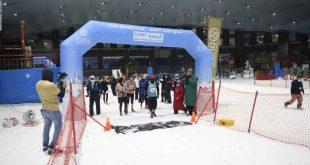 دبى تنظم سباق الجري الثلجي لإنعاش السياحة الرياضية في زمن كورونا