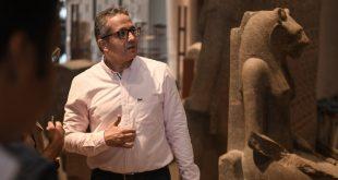 جولة تفقدية 3 ساعات لوزير السياحة والآثار بقاعات العرض بالمتحف المصري الكبير4