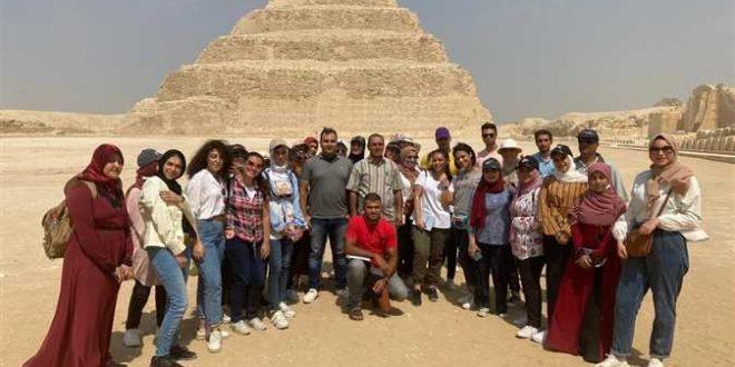 مركز زاهي حواس للمصريات بمكتبة الإسكندرية ينظم زيارة لسقارة ومتحف إيمحتب
