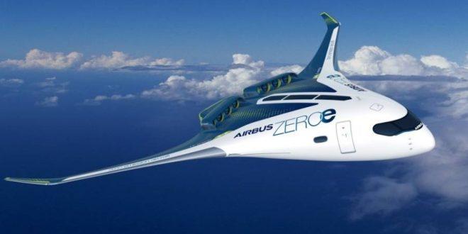 """""""إيرباص"""" تكشف عن 3 نماذج لأول طائرة تجارية خالية من الانبعاثات في العالم"""