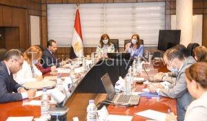 اجتماع وزيرة التخطيط ووزيرة الهجرة
