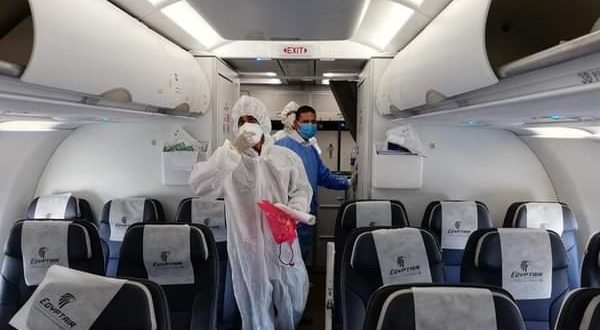 مطار القاهرة ينفذ تجربة طوارئلإجراءات السلامة ومكافحة فيروس كورونا