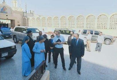 السفير الألماني بالقاهرة يزور دير السيدة العذراء بدرنكه