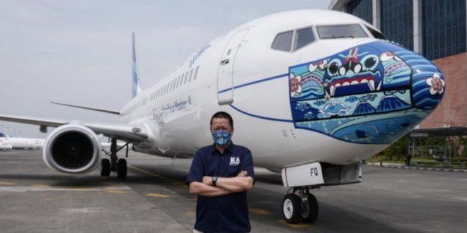 طائرات إندونيسية ترتدى كمامات للتوعية بأهمية ارتدائها في التصدي لكورونا