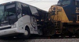 مصرع وإصابة 47 سائحا فى أول إحصاء لضحايا اصطدم قطار بحافلة سياحية بتايلاند