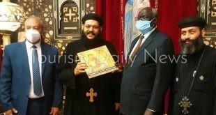 وزير التعليم العالى السودانى يزور مجمع الأديان بمصر القديمة