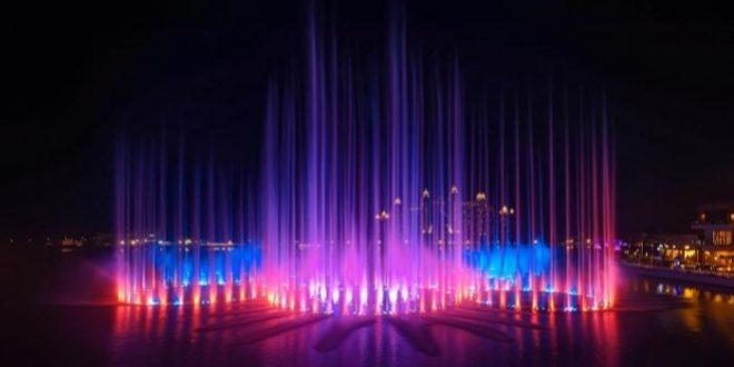 دبى تستعد لدخول موسوعة جينيس بأكبر نافورة مياه في العالم