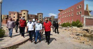 محافظ بورسعيد يتفقد أعمال تطوير قرية المرجان السياحية تمهيداً لافتتاحها