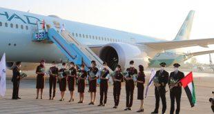 """""""الاتحاد للطيران"""" تسير أول رحلة ركاب تجارية إماراتية إلى إسرائيل"""