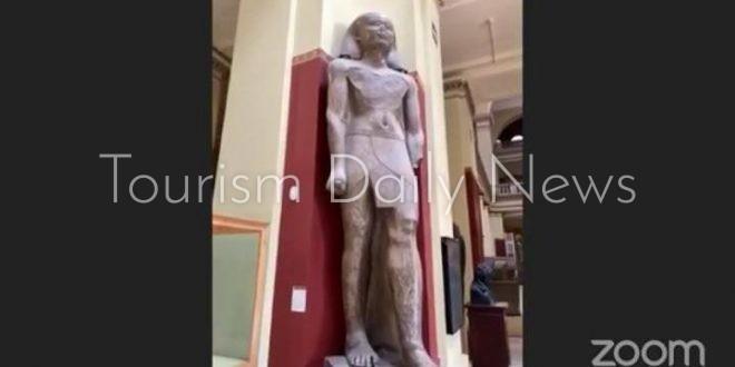 55 شاباً من أبناء المصريين بنيوزيلندا في زيارة افتراضية للمتحف المصري
