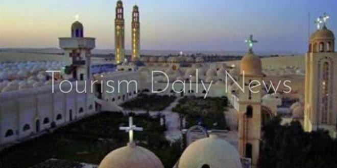 أسقف ملوي يشكر وزارة السياحة على ترميم دير أبوفانا الأُثري