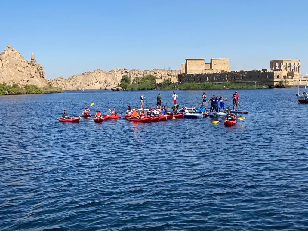 البطولة الدولية لرياضة التجديف الكاياك تختتم فعالياتها بمدينة أسوان1