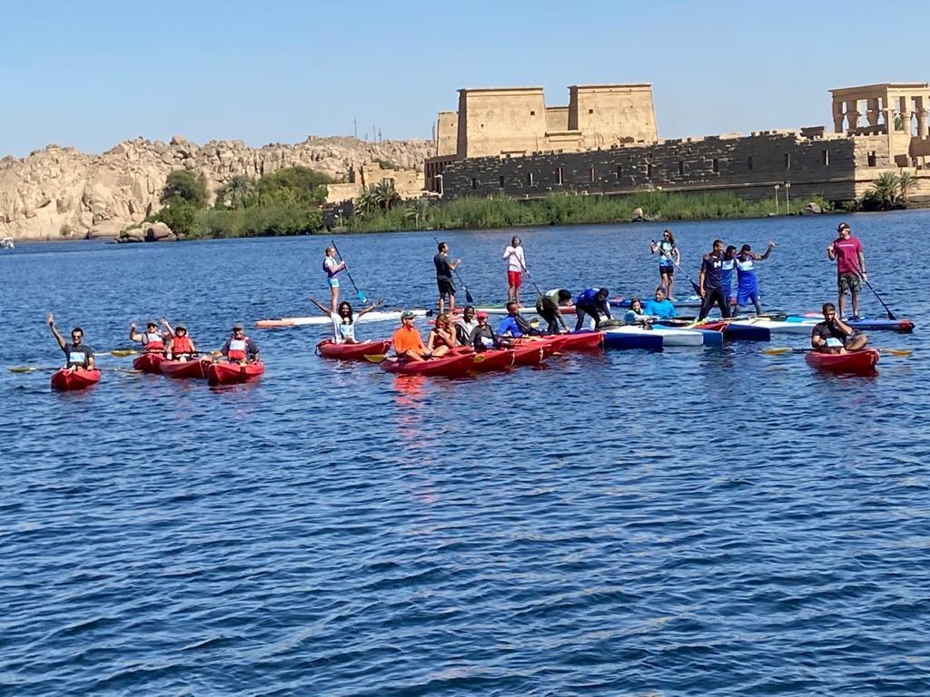 البطولة الدولية لرياضة التجديف الكاياك تختتم فعالياتها بمدينة أسوان5
