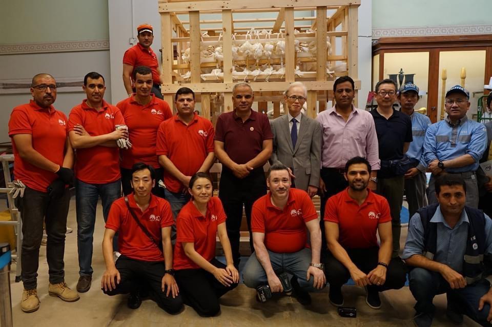فوز مشروع حفظ وترميم الآثار بالمتحف الكبير بجائزة يوميوري للتعاون الدولي
