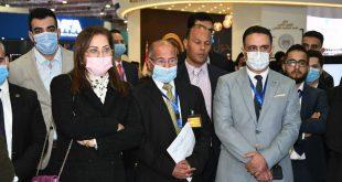 هالة السعيد وزيرة التخطيط تفتتح جناح الوزارة في معرض القاهرة الدولي للاتصالات 1