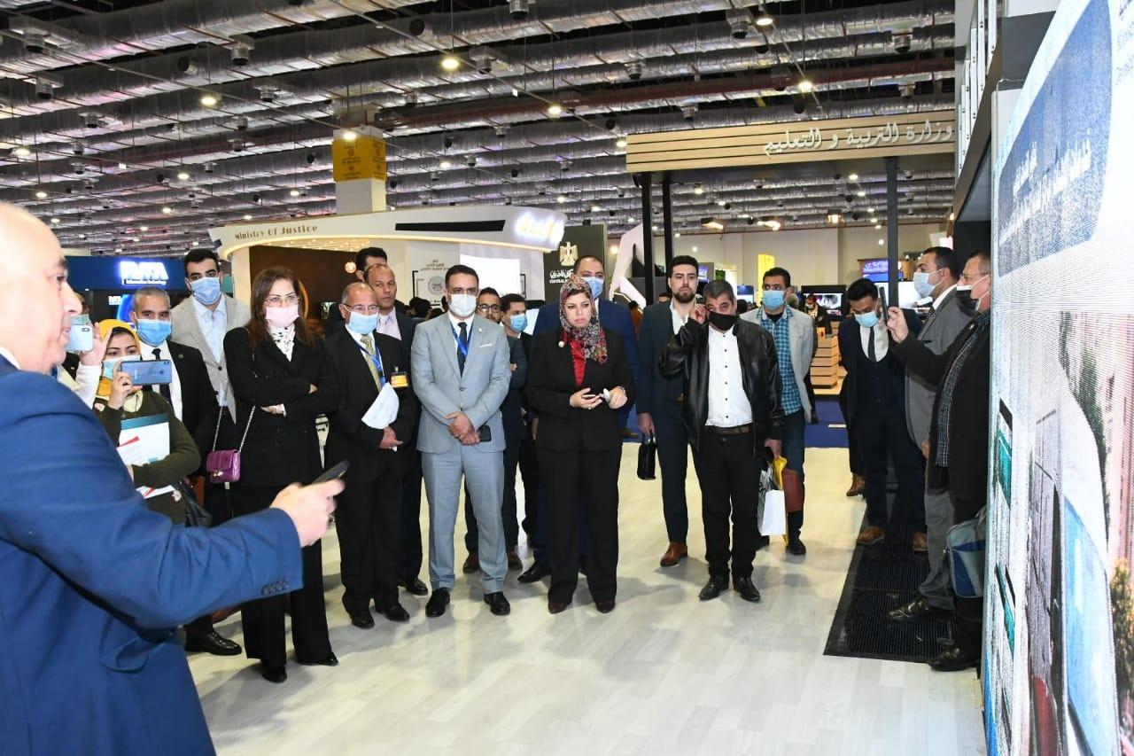 هالة السعيد وزيرة التخطيط تفتتح جناح الوزارة في معرض القاهرة الدولي للاتصالات