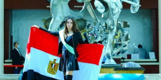 وصول ملكة جمال مصر للمشاركة فى مسابقة ملكات السياحة والبيئة بالغردقة