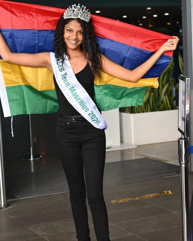وصول ملكة جمال موريشيوس للمشاركة فى مسابقة ملكات جمال المراهقات للسياحة