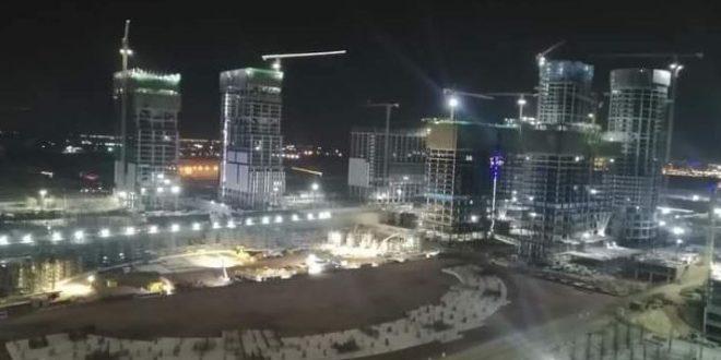 البرج الأيقونى بالعاصمة الإدارية الجديدة وصل للطابق 49 بارتفاع 240 متراً