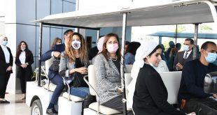 وزيرة التخطيط تزور معرض صنع في مصر المقام بمتحف القوات الجوية