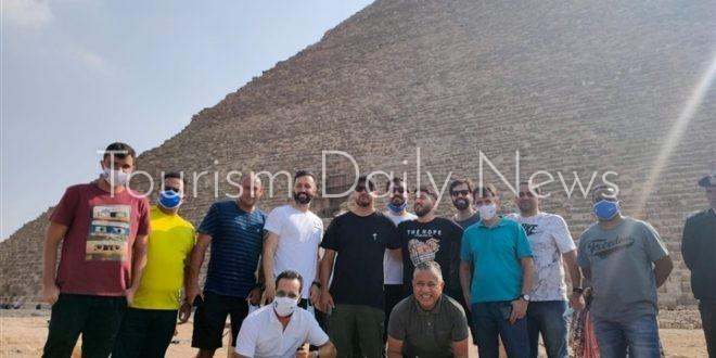 جولة سياحية لبعثة منتخب البرازيل الأوليمبى بالأهرامات