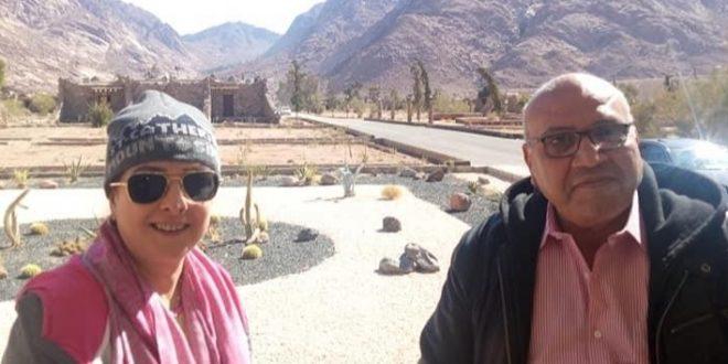 حنان شوقي تروج للسياحة المصرية من استراحة السادات بسانت كاترين
