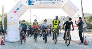 """سياحة عجمان تختتم سباق """"مصفوت للدراجات الجبلية"""" بمشاركة مئات المتسابقين"""