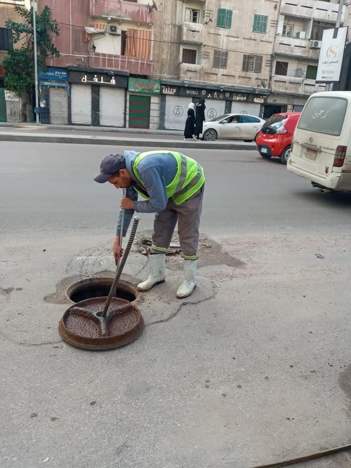 أحياء الإسكندرية تبدأ الاستعداد لنوة الفيضة الصغرى وتطهر شنايش الأمطار