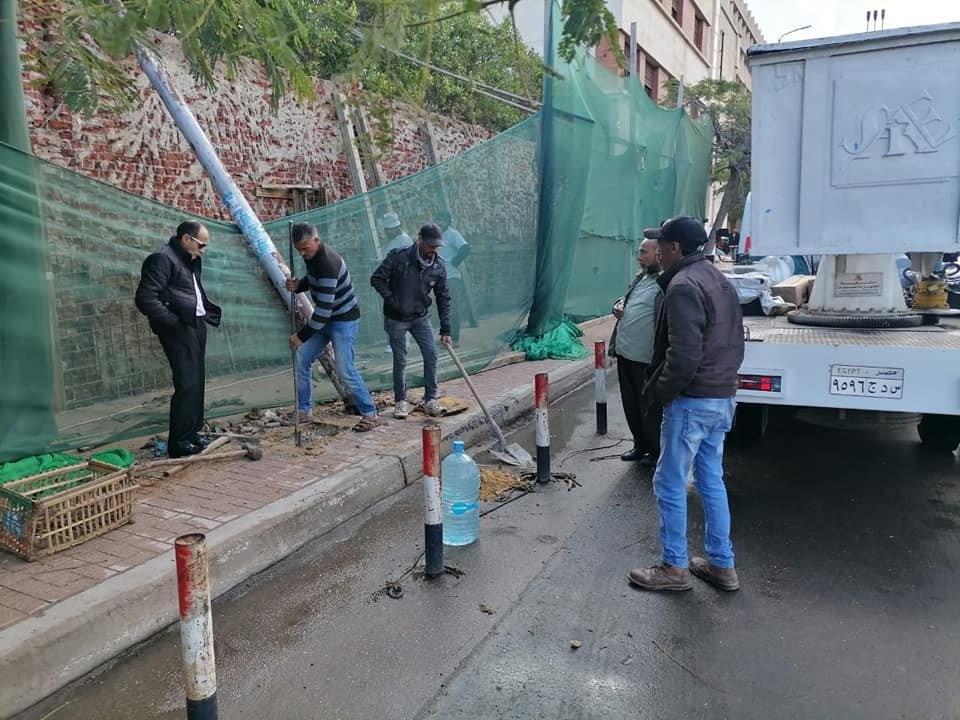 أحياء الإسكندرية تبدأ الاستعداد لنوة الفيضة الصغرى وتطهر شنايش الأمطار3