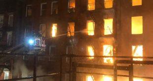 بالتفاصيل حريق مجمع كنسي تاريخي فى نيويورك