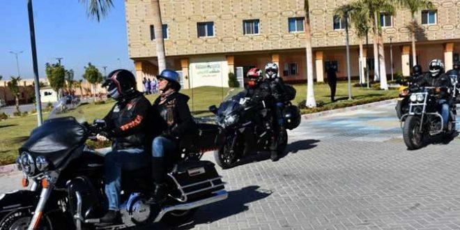 مسيرة بالدراجات النارية فى الأقصر لتنشيط السياحة ودعم مستشفى الأورام