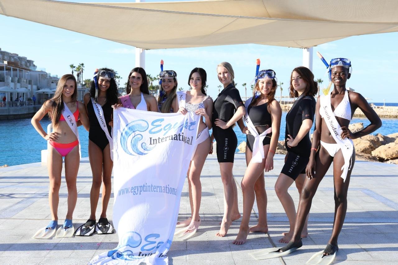 ملكات جمال السياحة يستمتعون بالغطس والسنوركلينج بالباتروس سيتادل سهل حشيش2