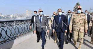 رئيس الوزراء يتفقد أعمال تنفيذ مشروع ممشى أهل مصر
