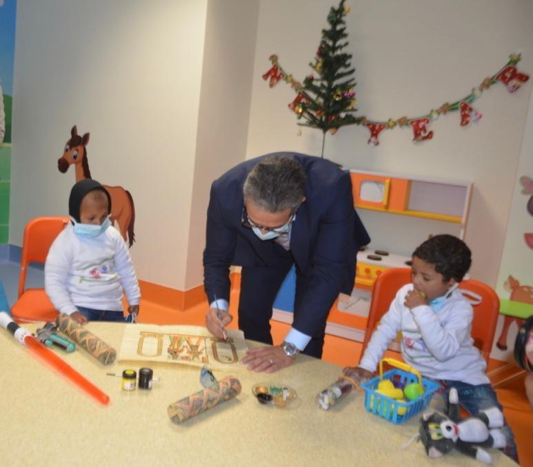 العنانى ومنار يشاركان فى افتتاح مستشفى شفا الأورمان لعلاج سرطان الأطفال